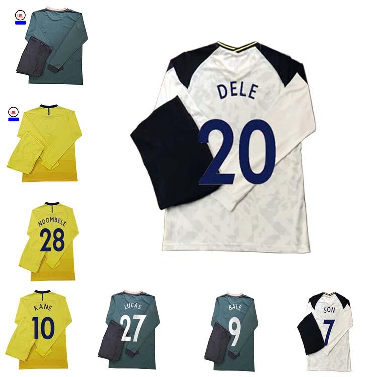 2021 Jerseys de fútbol personalizados de manga larga Kane Son Bergwijn Ndombele Dele Lucas Football Shirt Lo Celso Morgan Bale Lamela Men Jerseys