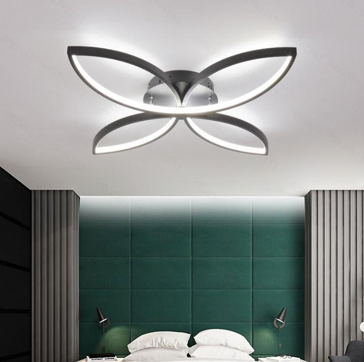 modern led chandelier for living room bedroom aluminum body remote control home chandelier lighting lamp fixture