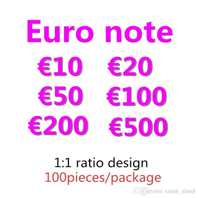 Prop money copia token giocattolo per bambini faux 10 billet 200 50 100 giochi 500 Euro Party festive 20 falsi raccolti di denaro regali 08 ATWBF