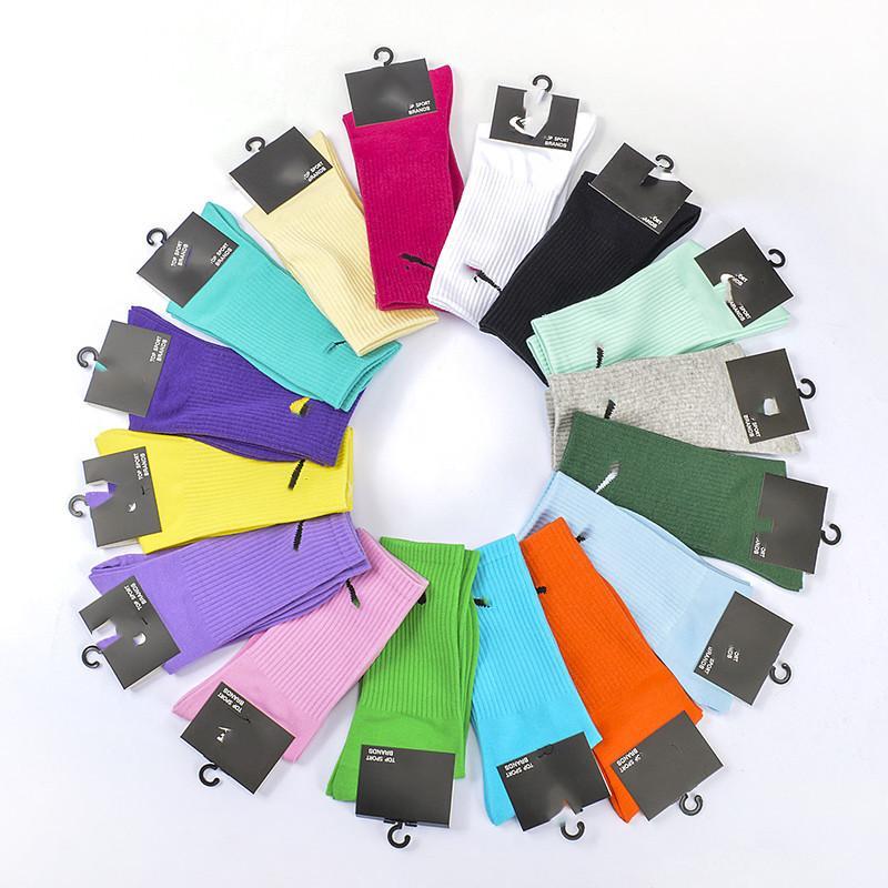 Homens mulheres unisex novidade colorido tie-tingimento skate algodão harajuku hiphop meias top esporte casal meia longa
