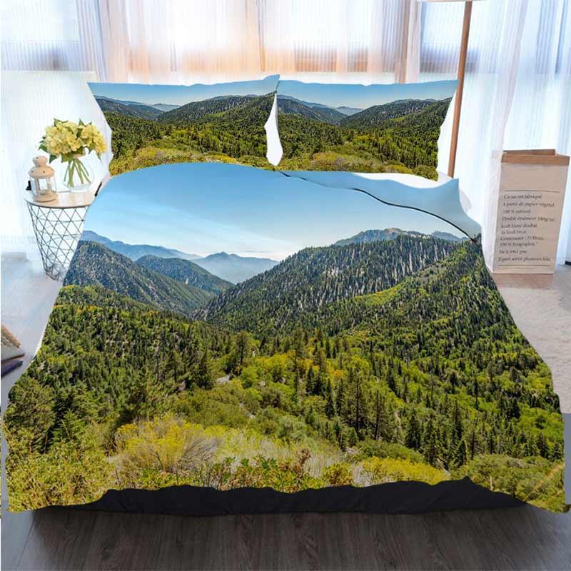 Joyeux Noël à housse de couette Big Mountain Creek Valley Polyester housse de couette ensembles de literie de luxe
