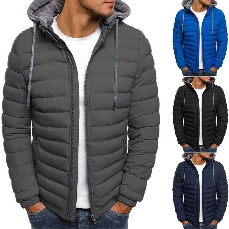 Nuovo marchio Autunno Inverno Giacca leggera Moda uomo con cappuccio Breve grande Grande Ultra-sottile Tesoro leggero Giovani Slim Cappotto giù Giacche