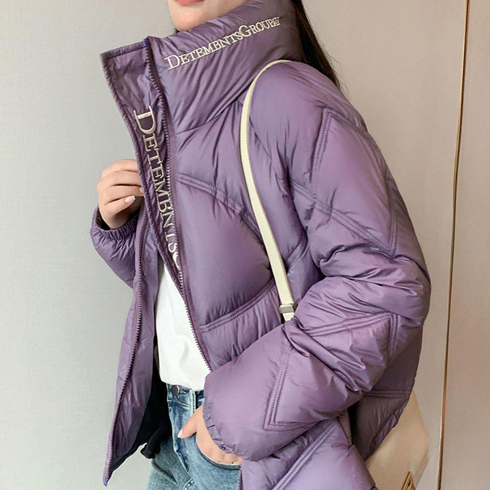 تقليص حجمها طويلة الأكمام طوق موقف النساء فضفاض وسترة الخبز سترة معطف امرأة الشتاء الشتاء مزاجه الكورية المرأة