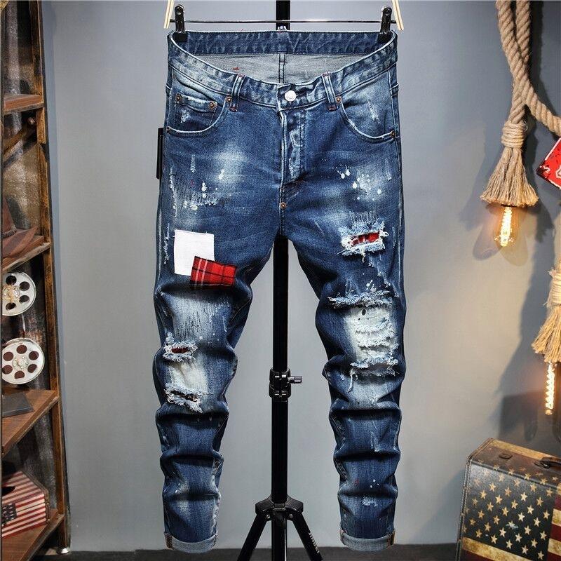 2021 Neue europäische und amerikanische Mode Herren Casual Jeans, hochwertiges Waschen, reines Handschleifen, Qualitätsoptimierung LT2119