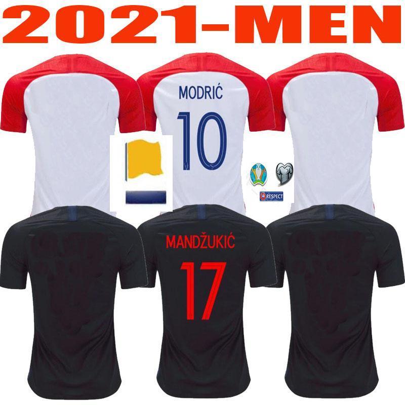 NCAA 20 21 Человек + Детский футбол Джерси Национальная команда рубашки мужской комплект Suker Modric взрослый футбол Джерси Крамарические брозовические ремические дети Джерси 20