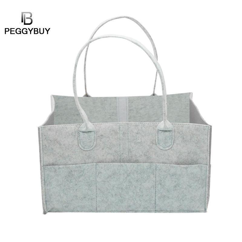 Multi-function Baby Diaper Bag Felt Nappy Storage Basket Maternity Handbag Women's Makeup Organizer/Felt Cloth Insert Handbag