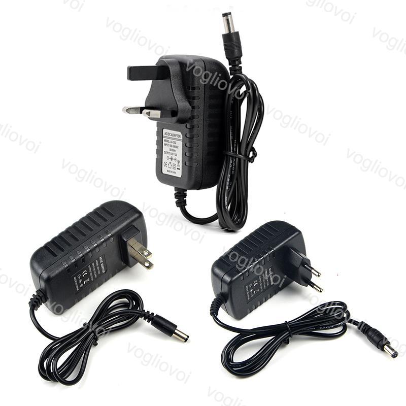 إضاءة محولات 5.5 * 2.1mm الولايات المتحدة الاتحاد الأوروبي المملكة المتحدة التوصيل 110-240 فولت ac dc 12 فولت 2a الملحقات ل 5050 3528 الصمام قطاع ضوء dhl