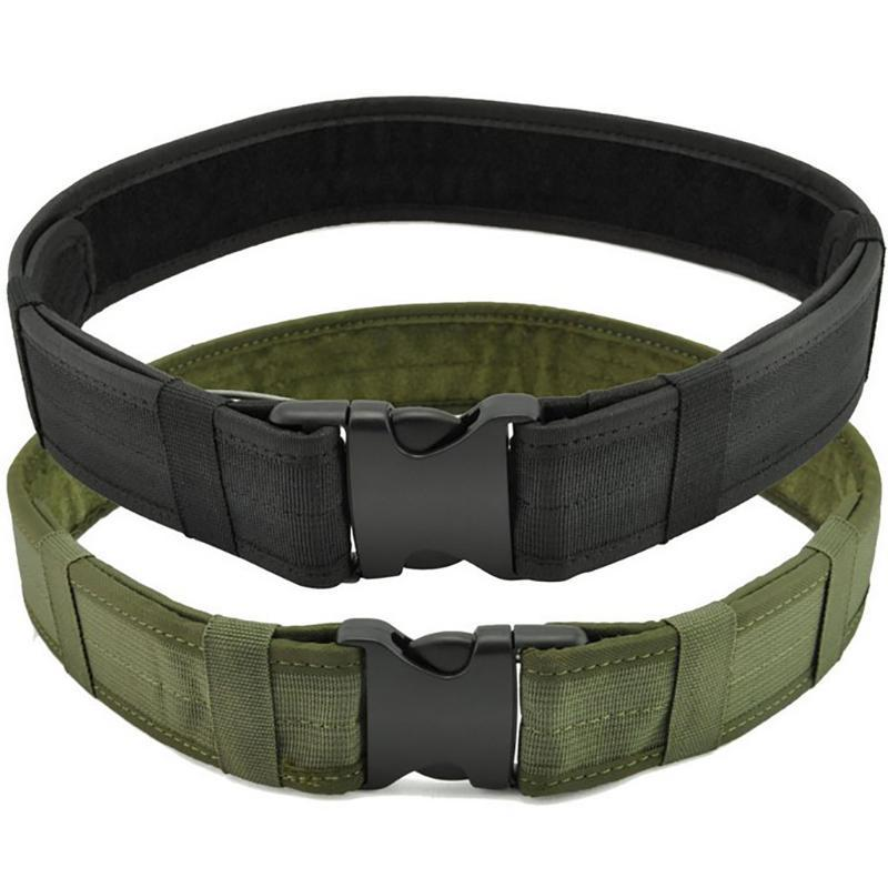 Apoio da cintura Cinto tático do esporte da lona do combate com o cintura exterior ajustável do gancho do gancho do exército do exército do exército do plástico
