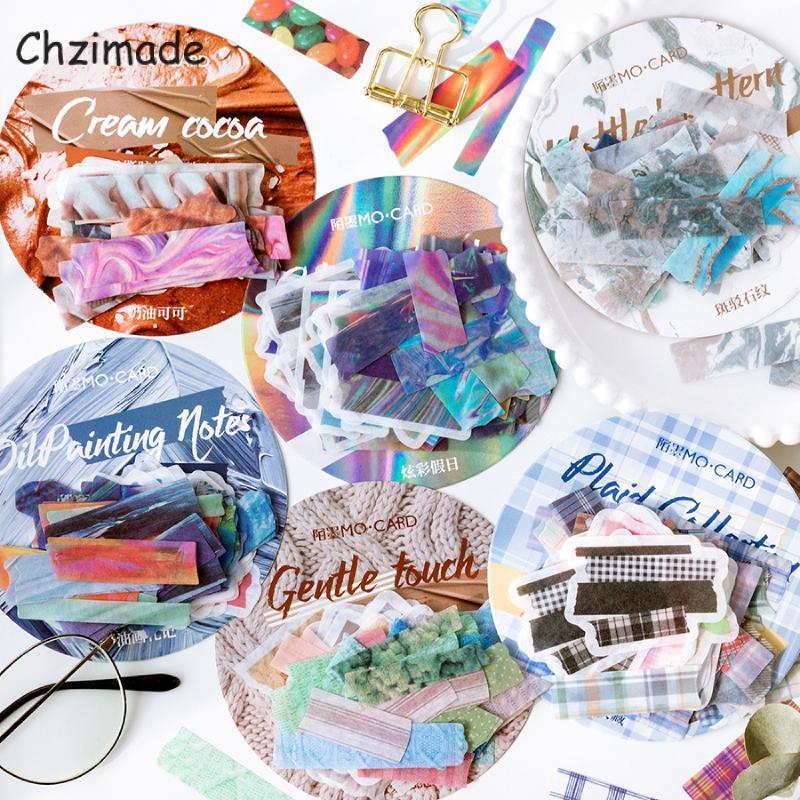 Chzimade 60pcs старинные цветочные бумаги наклейки нежелательный журнал скрапбукинг наклейки 11x11cm офисная школа канцтовары бумажные ремесла