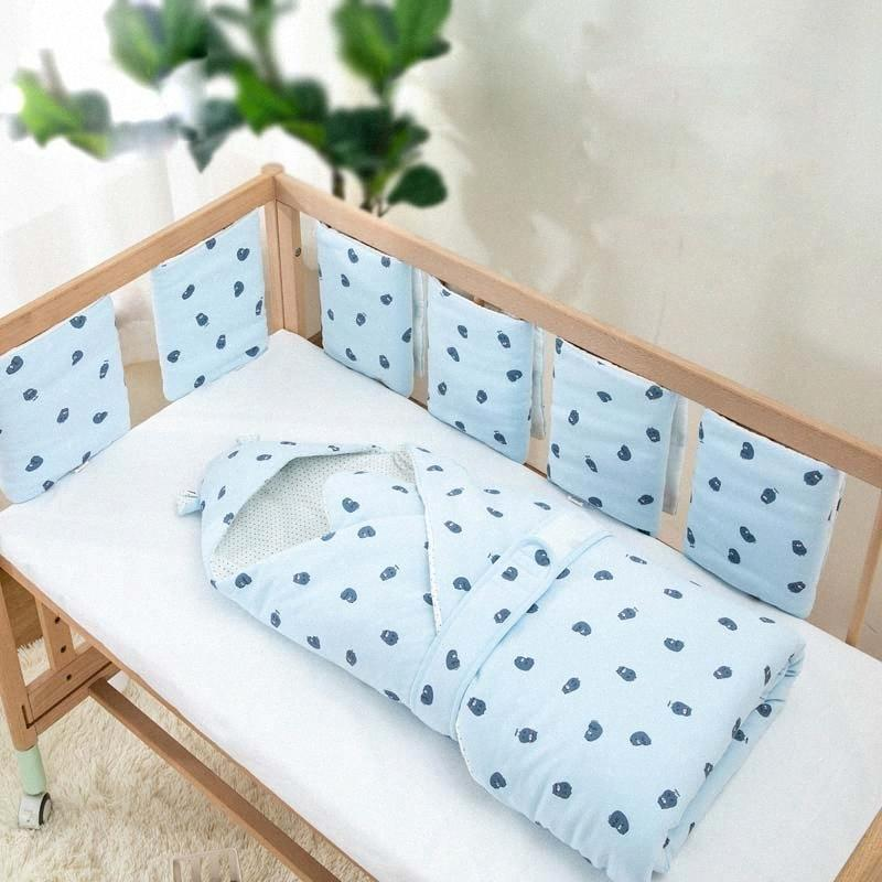 Cartoon Bumpers In The Crib For Newborn Baby 6Pcs/Set Cotton Baby Decoration Room Bed Bumper Kid's Bed Bedding Set Crib Stuff rPWC#