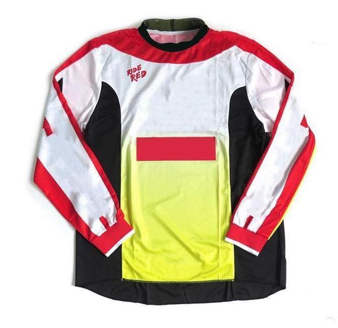 폭발적인 오토바이 여름 긴 소매 셔츠 티셔츠 야외 산악 자전거 크로스 컨트리 오토바이 의류 빠른 통기성 유아