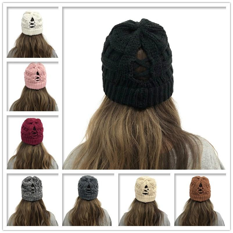 2021 HOT Winter Knitted Beanie Faux Fur Cap Pom Ball Crochet Hats Knitted Hat Skully Warm Ski Trendy Soft Thick Caps