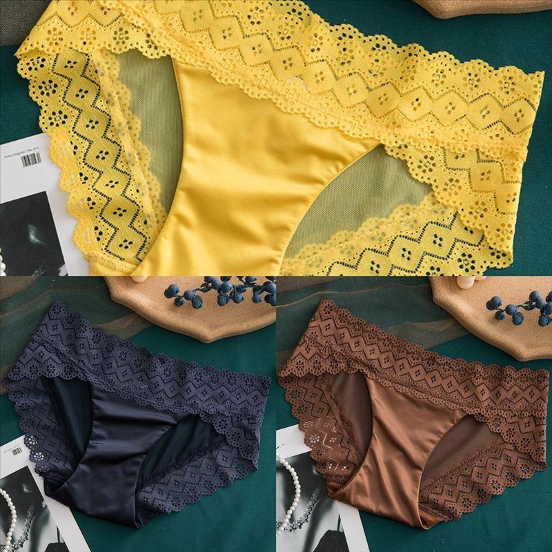 YhX Sexy leopard skin ladies underwear big lady thong crotch transparent lace