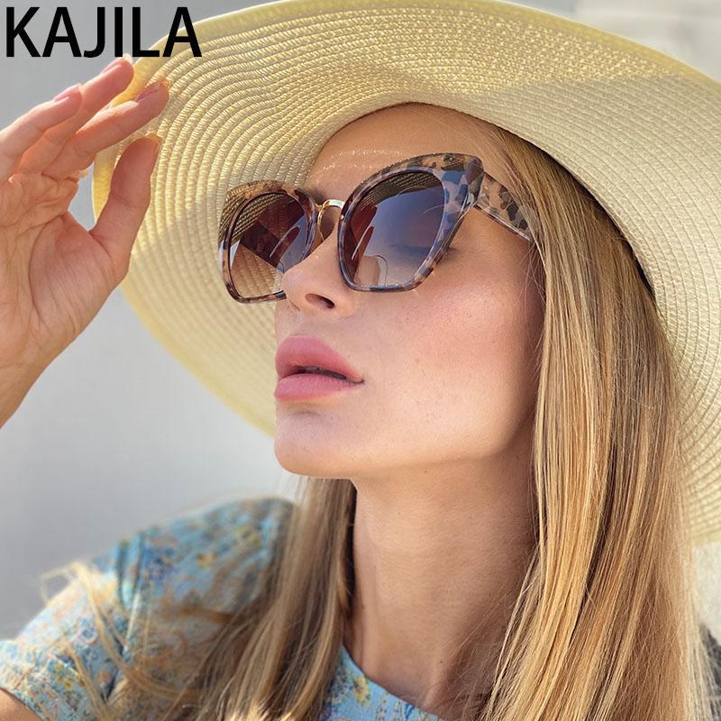Óculos de gato de olho mujer sol de tendência lendes óculos 2020 Óculos de sol para Sol Designer Leopard mulheres mulheres mqcrm