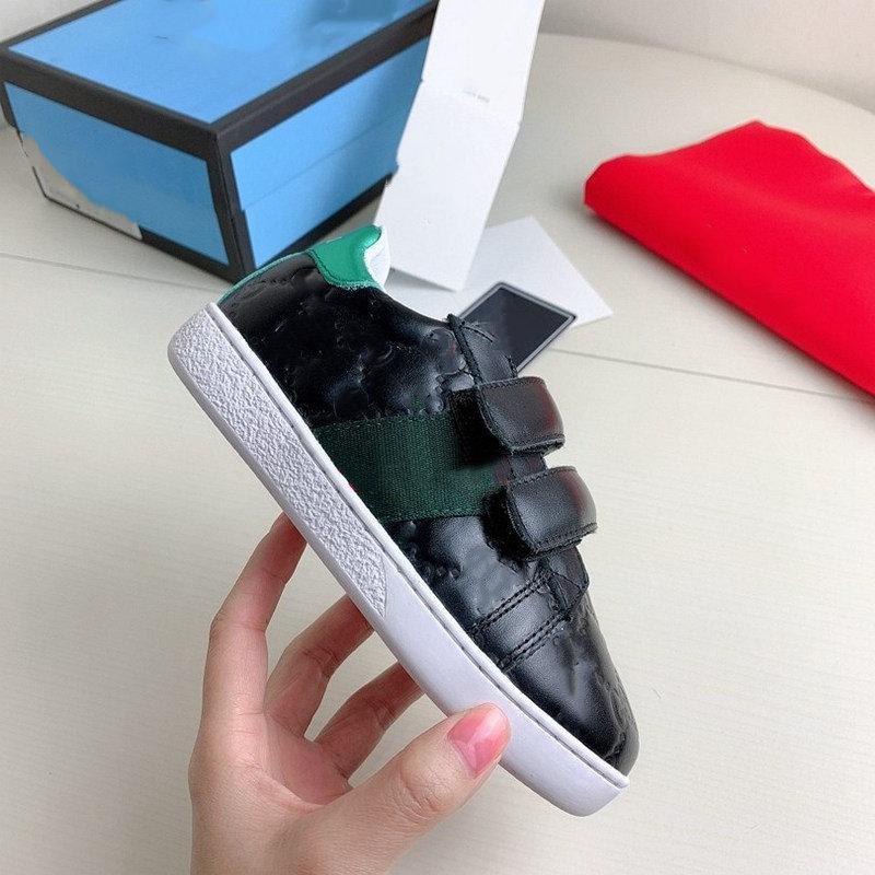 Высочайшее качество Scarpe мужчины женщин повседневная обувь мода кроссовки на шнурок обувь зеленая красная полоса черная кожаная пчела вышитые прессы