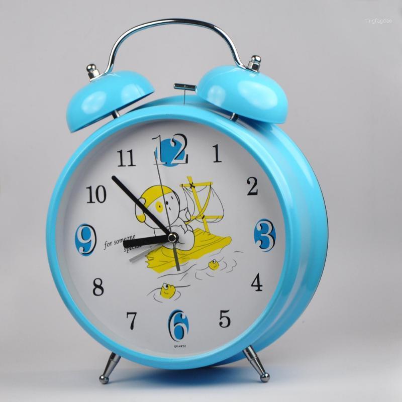Diğer Saatler Aksesuarları Toptan 9 Inç Yaratıcı Büyük Sessiz Çalar Saat Aydınlık Elektronik Çan Stereo Yuvarlak Büyük Masa Saat1