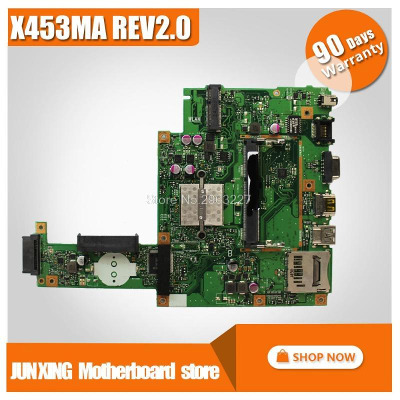 X453MA Motherboard REV2.0 N3540U N3530 pu For Asus X453MA X403MA Laptop motherboard Mainboard test OK 4 core