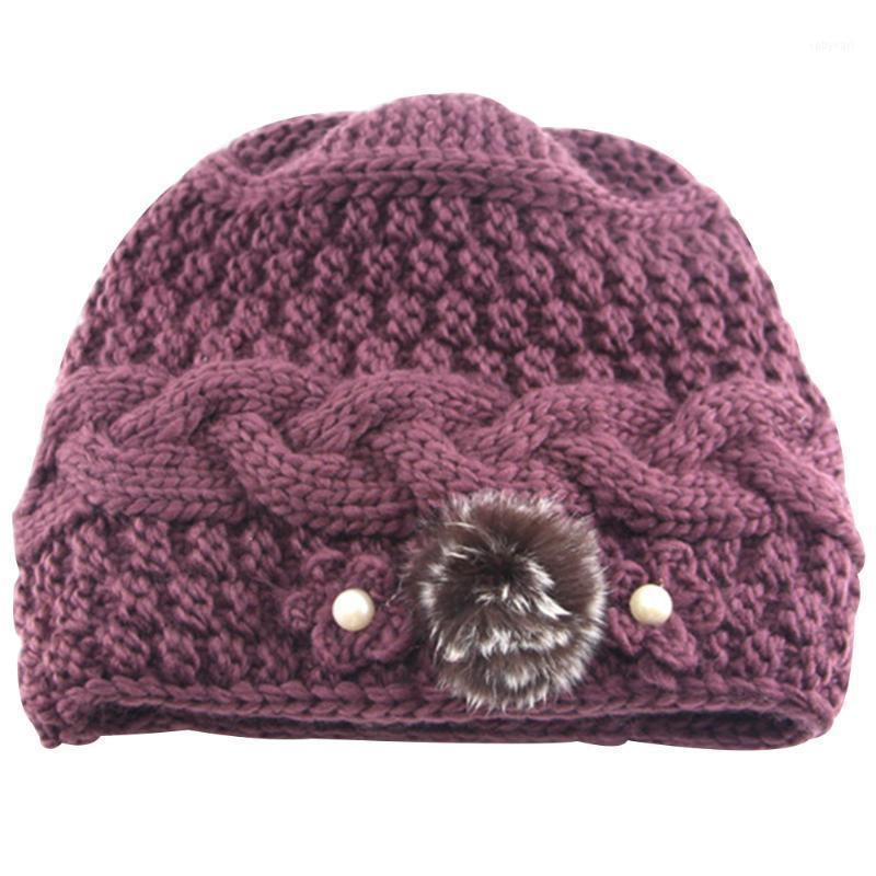 Donne multicolore floreale inverno in lana artificiale resistente all'usura moda resistente morbido cappelli a maglia casual dayedy Elasty Elasty Elastic Heart1