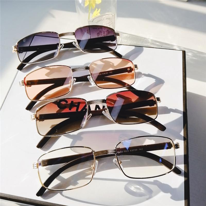 Quadratische Sonnenbrille Männer Rechteck UV400 Sonnenbrille Kleine neue Steampunk Vintage Designer Frauen Eyewear Brillen Hhajt