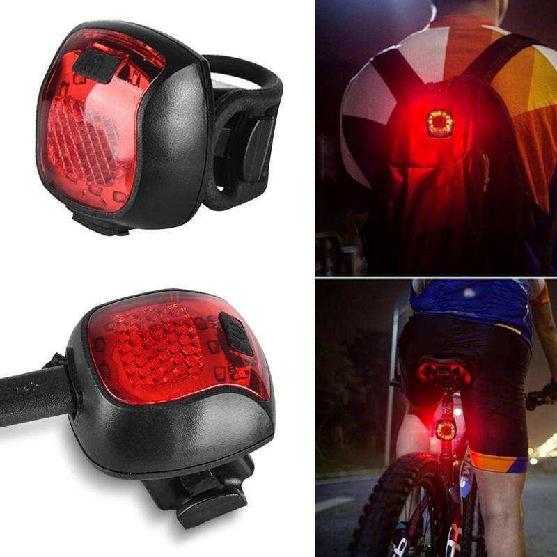 Bicicleta Taillight USB carregável da luz posterior impermeável equitação traseira Luz Led Mountain Bike Headlight Ciclismo Luz Traseira-lâmpada