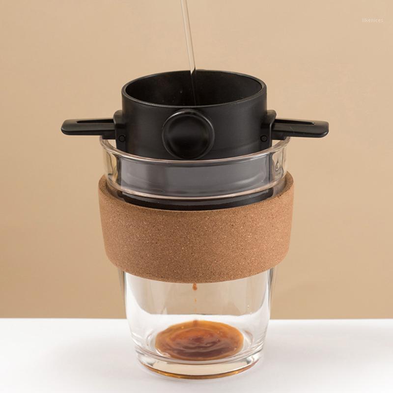 Многоразовый кофефильтр сетки сетки капельницы из нержавеющей стали кофеварка машины воронка чашка кафе пивоварник держатель Dripper1