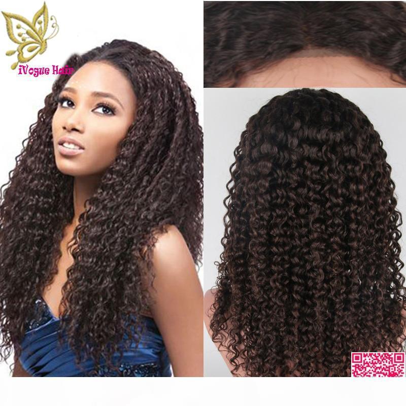 Бразильские странные кудрявые кружева передние человеческие парики волос необработанные человеческие волосы полный кружевной парик с обесцвеченными узлами Детские волосы