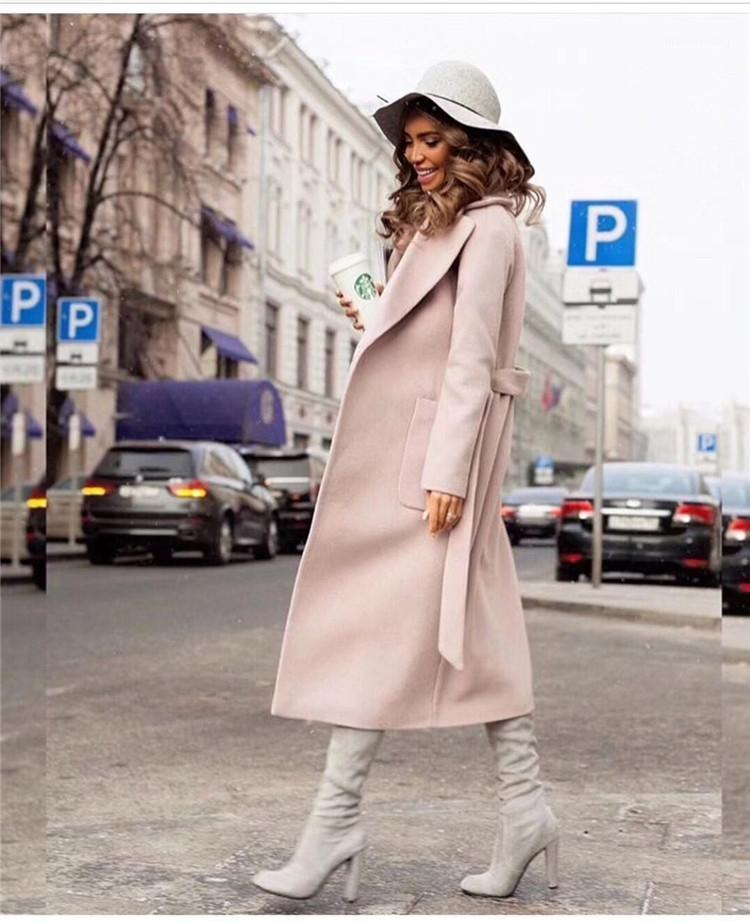 Горячие элегантные длинные женские пальто отвороты 2 кармана leeted Куртки сплошные цветные пальто женской верхней одежды одиночные хлопоты1