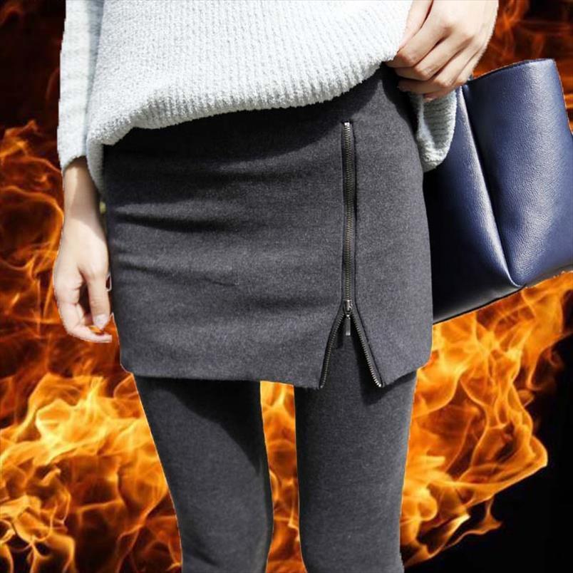 Gearemay теплый юбка леггинсы для женщин толстые бархатные повседневные женские хлопчатобумажные скинни высокие талии брюки упругие брюки уличные