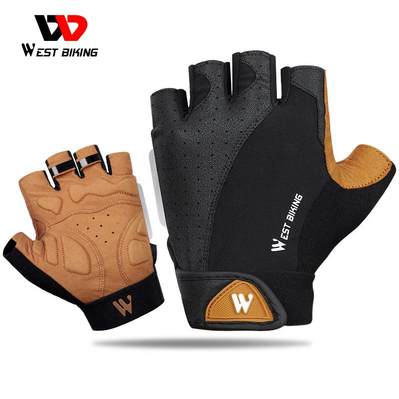 wholesale Summer Cycling Gloves MTB Mountain Road Bike Half Finger Gloves Men Women Bicycle Gym Fitness Non-slip Sports Gloves