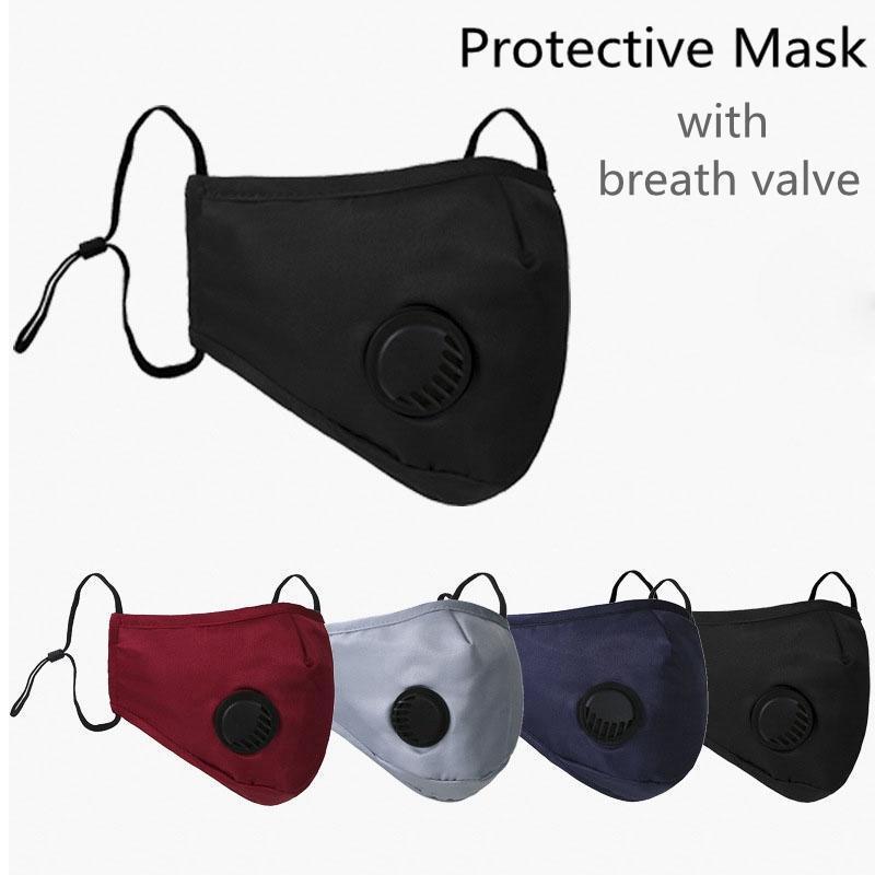 Masque de visage Earboop anti-poussière avec soupape respiratoire Masques de bouche réutilisables réglables Masque anti-poussière respirant Soft Spouse Mask Livraison gratuite