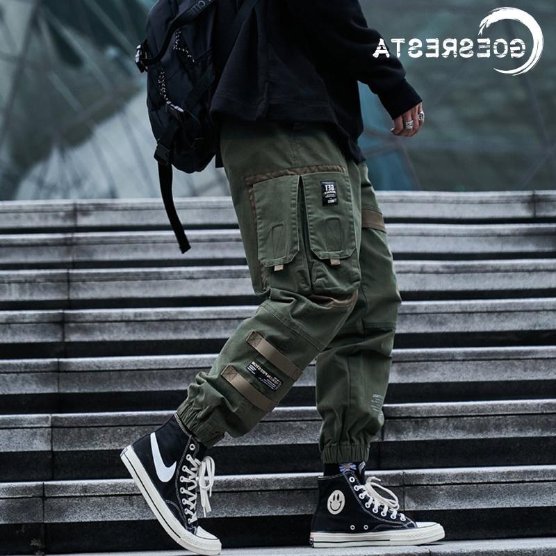 2020 Hip Hop Streetwear Koşucular Sweatpants Casual Pamuk Harem Pantolon Harajuku Sonbahar Kargo Pantolon Erkek Marka Giyim