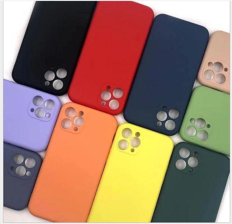 모방 액체 실리콘 TPU 케이스 슬림 360 iPhone 12 Pro Max 11 XR XS 100pcs / lot