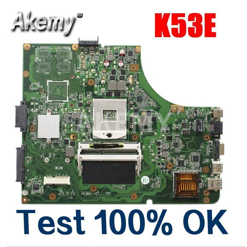 Amazoon K53E Laptop motherboard For Asus K53E K53SD K53 A53E A53S X53S X53E P53 Test original mainboard GM