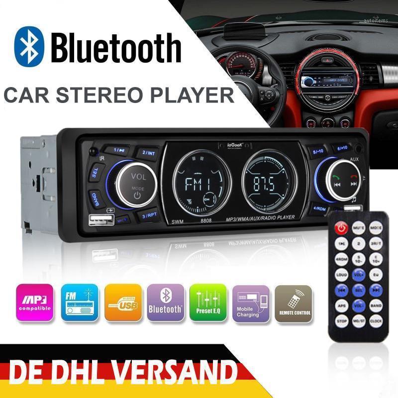 12 V Araba Radyo Bluetooth MP3 Çalar LCD Ekran Stereo Araba Ses Çalar FM USB / SD / AUX-in Telefon Şarj 1DIN1