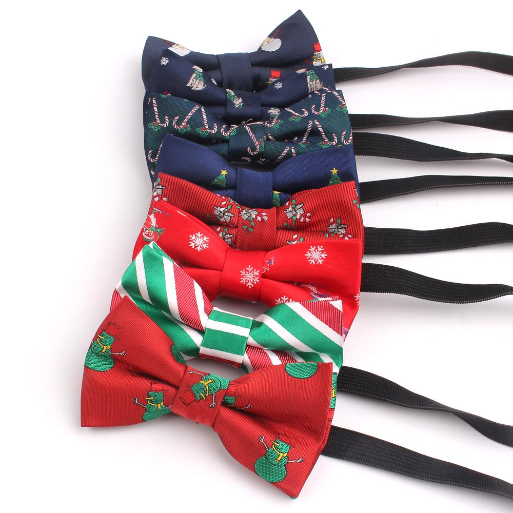 Christmas tree Bow Tie For Kids Bowtie For Party Children Bow knot Jacquard Christmas Bow ties For Boys Girls Cravats BowTie