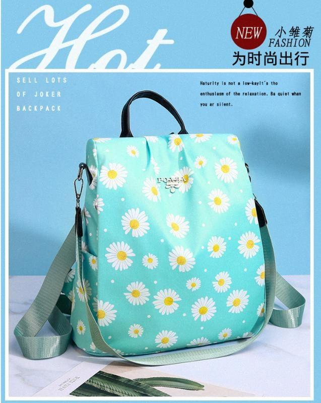 2020 Verão New Women Backpack Anti Theft Backpack Feminino Printing Daisy Casual Travel Bag Waterproof Oxford Flor Bolsa Meninos Mochilas 1AB7 #