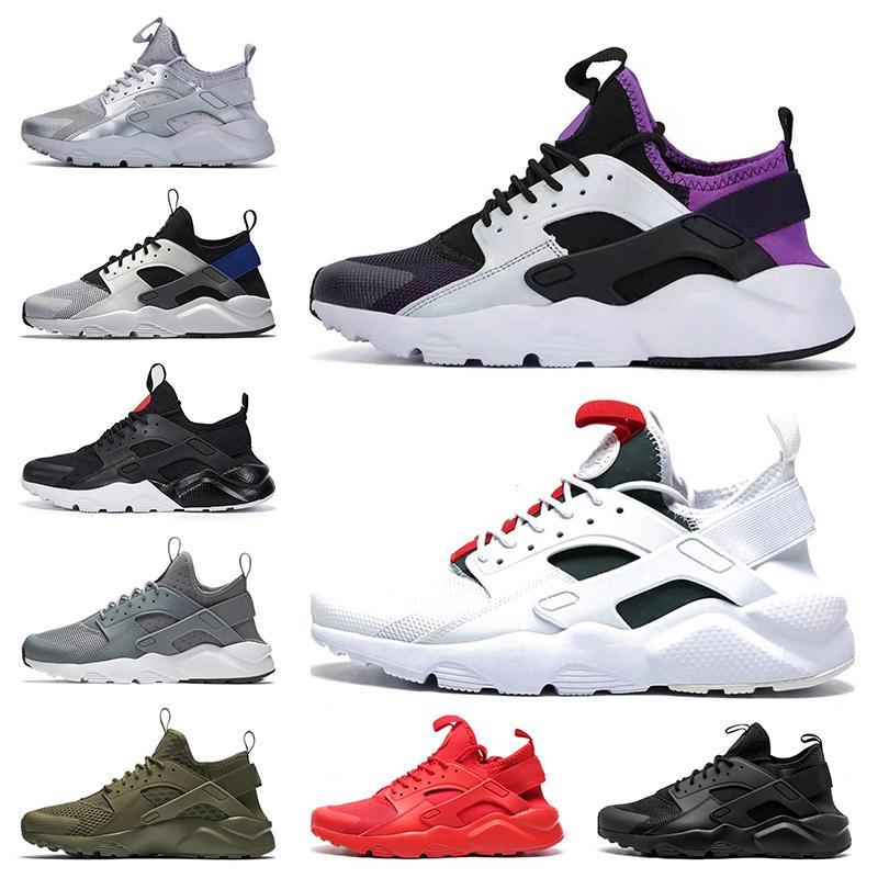 nike air Sıcak Moda NIK En quaity Hava Kadınlar Erkek Huarache Ayakkabı Sneakers Beyaz Yeşil Siyah Kırmızı Spor Eğitmenler Ayakkabı boyutu 36-45 Huaraches Koşu