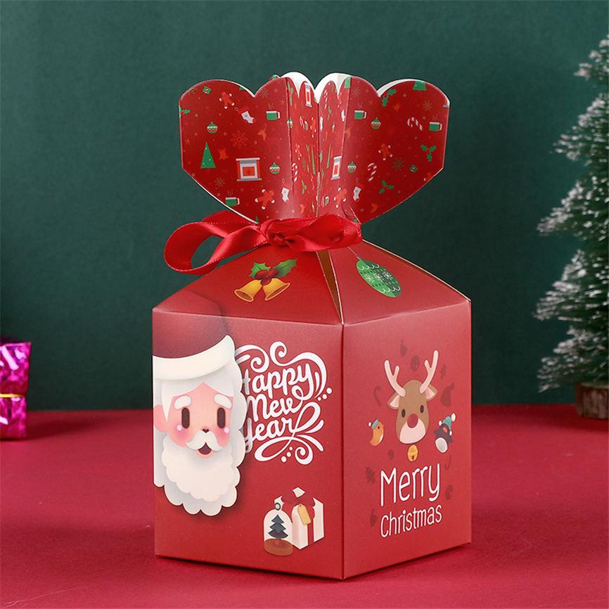 도매 메리 크리스마스 종이 상자 크리 에이 티브 만화 크리스마스 이브 선물 상자 자리 안전 과일 포장 상자 탑 판매