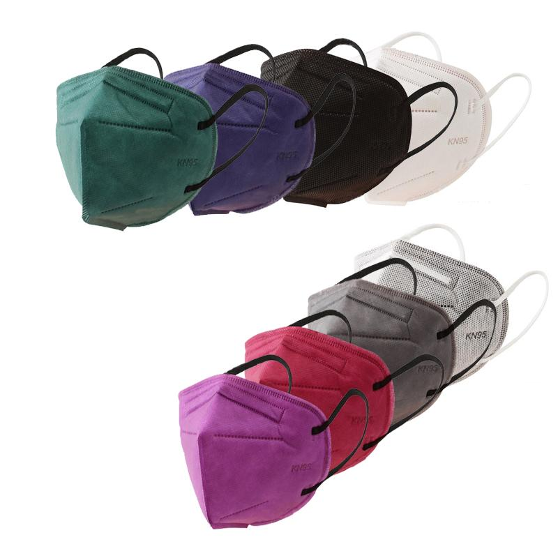 KN95 페이스 마스크 5 층 95 % 필터 다채로운 활성화 디자이너 마스크 블랙 마스크 쉐리 도매