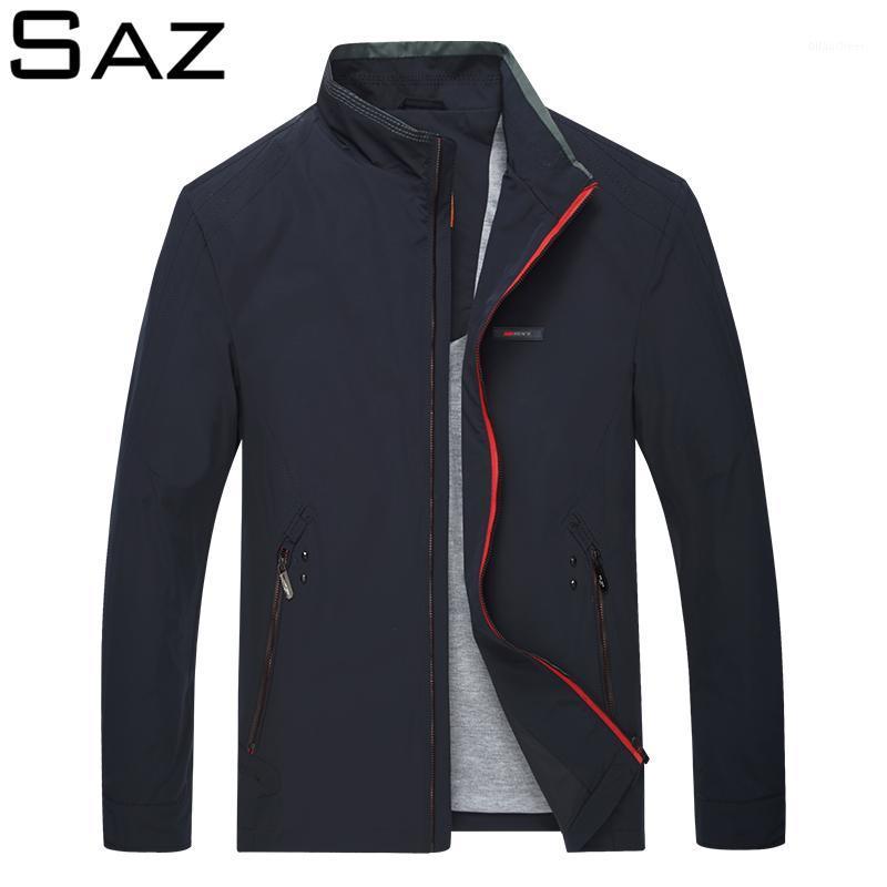 SOZ Qualidade Casual Casaco Homens Primavera Outono Outerwear Mandarin Sportswear Mens Jackets para Casacos Masculinos1