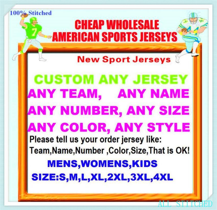 Personalizzato da baseball Hockey Basket da uomo Donna Giovani American Football Jerseys Sport Vapore Sport Intoccabile Jersey Stitched Sale 4XL 5XL 6XL