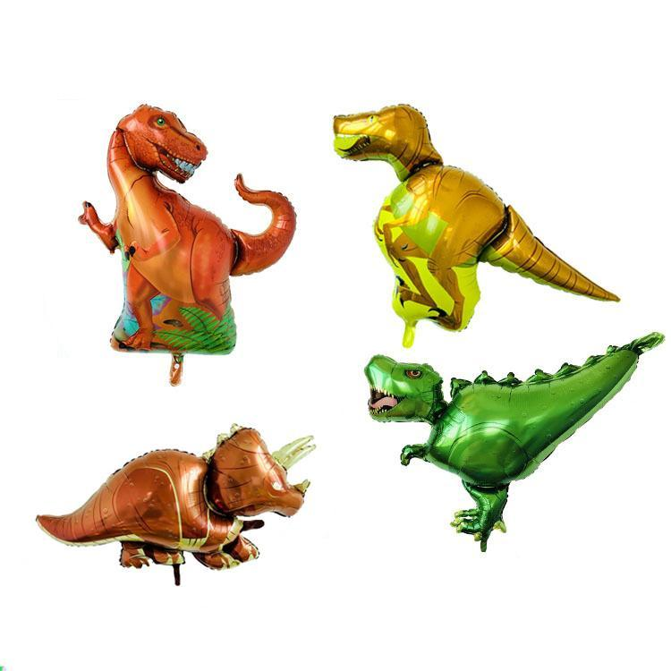 1pc Dinosaur Party Foil Balloons Happy Birthday Decoration Animal Dinosaur Air Helium Balloons For Children Kids Toys Balloons sqcTjc