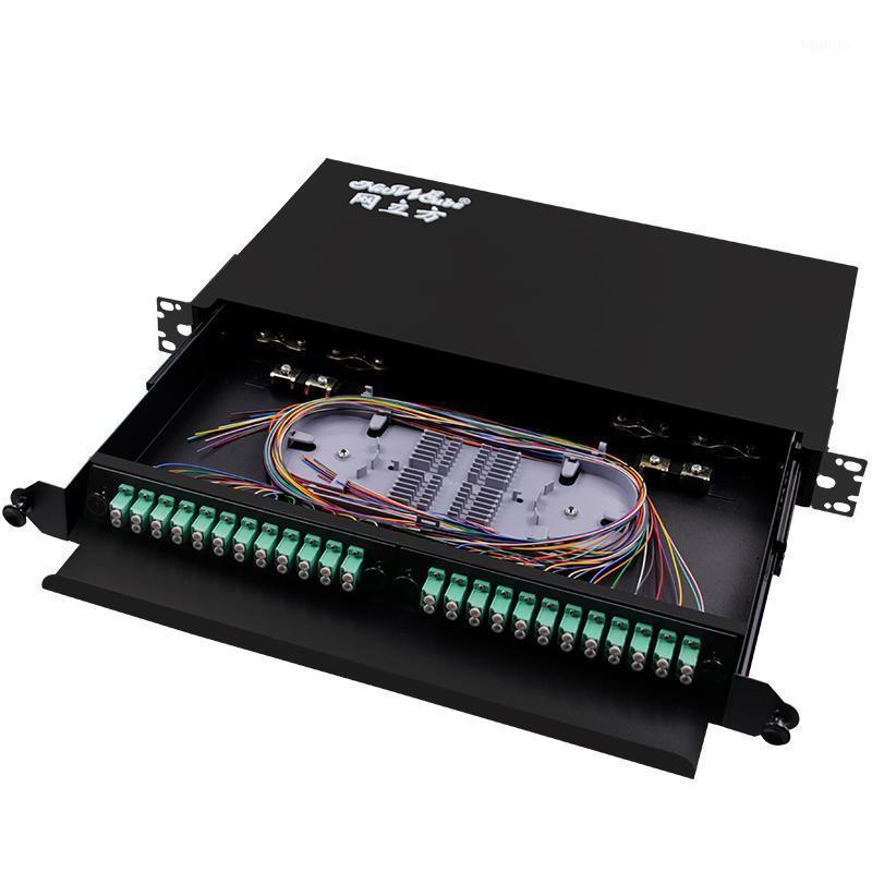 Boîte de terminaison de montage de rack d'équipement à fibre optique pour 48 Core UPC APC LC PIGT PIGN PIGN PIÈCRE DE DISTRIBUTION DE DISTRIBUTION OPTIQUE ODF TYPE DE TYPE1