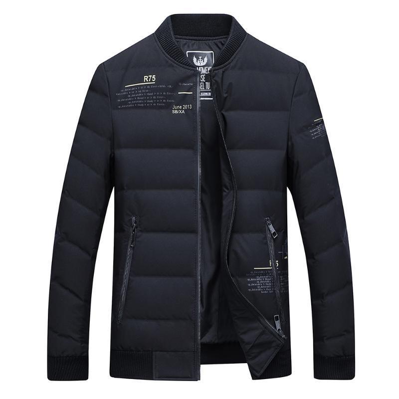 Vers le bas veste courte de la mode collier de baseball pour les jeunes occasionnels d'affaires Veste homme