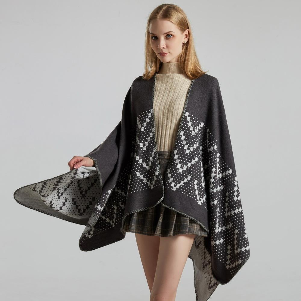 Outlet novo outono e inverno quente com viagens femininas Cashmere Split Thic