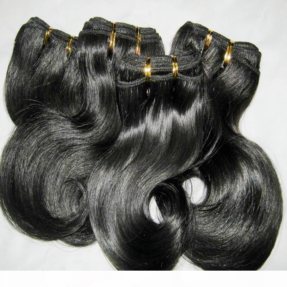 "6 pcs lote curto weave 100% peruano processado cabelo humano 50g pcs corporal onda de onda corpora cores escuras 8 ""-20"" desconto especial"
