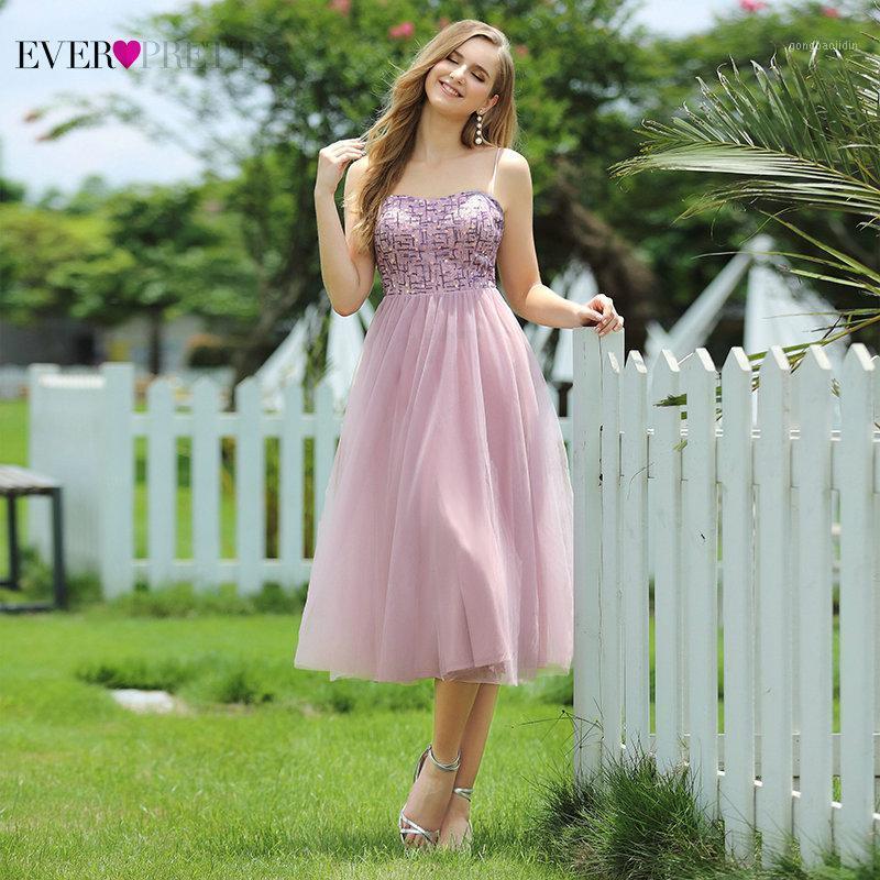 Curto vestidos de baile 2020 sempre Ep00569 moda jovem uma linha espaguete cintas sequines vestidos de festa comprimento vestidos cortos1