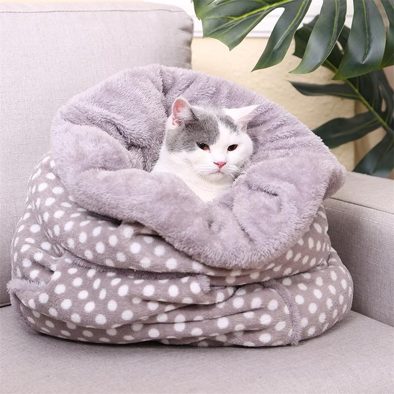 الحيوانات الأليفة الكلب القط أكياس النوم جميل القط الكلب مريحة أسرة سوبر الدافئة وسادة حصيرة الأرنب هريرة جرو السرير وظيفة متعددة إمدادات الحيوانات الأليفة LJ200918