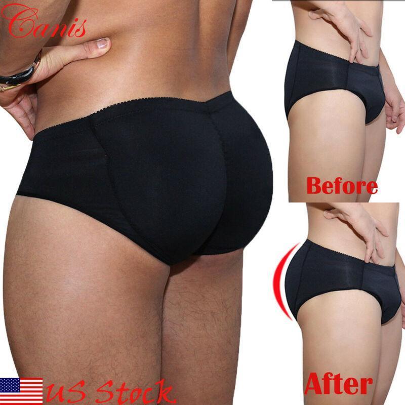 Products Сексуальные черные трусы Мужчины мягкие Bubriefs Enhancer плоский желудок нижнее белье Plus Размер S-3XL