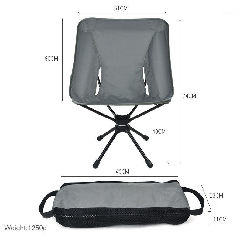 Camp Furniture 360 Rotating Outdoor Portable Folding Camping Chair Compact Swivel Seat For Fishing BBQ Hunting Hiking Beach Backpacking Tool